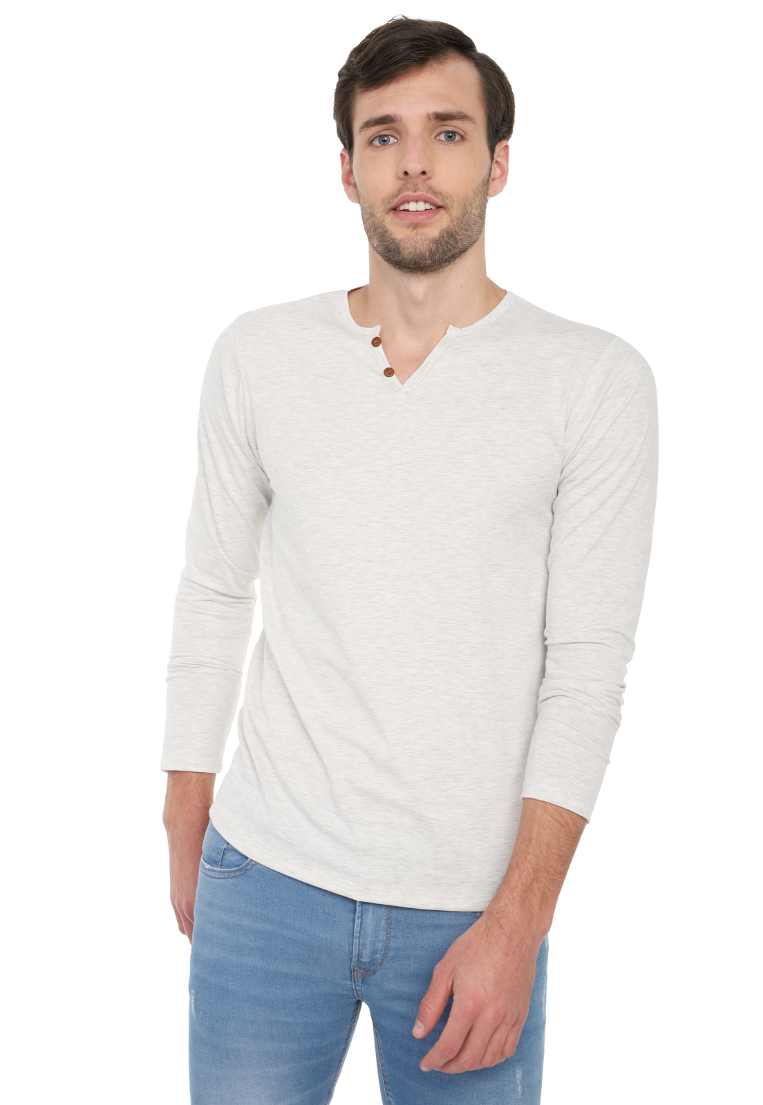 Camiseta Manga Larga Licrada - Marfil | Polovers